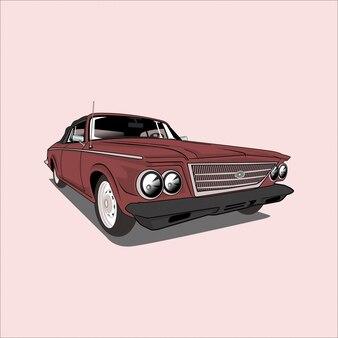 Векторная иллюстрация седан автомобиль классический автомобиль ретро