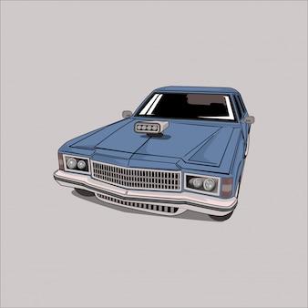 Иллюстрация классического автомобиля