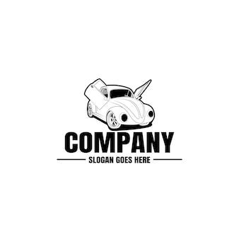 Шаблон логотипа автомобиля. иконка автомобиль для бизнес дизайн. аренда, ремонт, магазин концепции гаража.