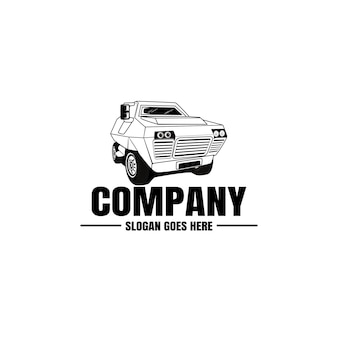Шаблон логотипа автомобиля. иконка автомобиль для бизнес дизайн. аренда, ремонт, концепция магазина гаража.