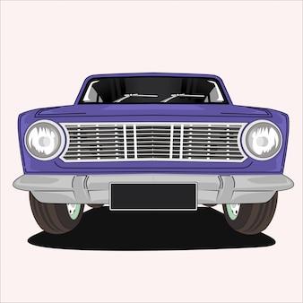 Иллюстрация на старинном классическом автомобиле