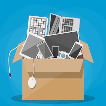 Различные устройства на коробке, чтобы выбрать свой любимый.