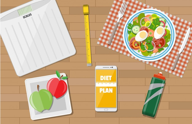 減量、ダイエット、健康的なライフスタイル。