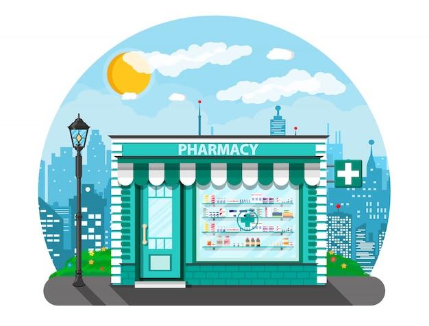 Современная внешняя аптека или аптека.