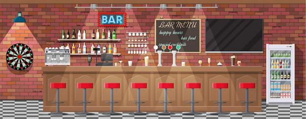 パブ、カフェ、バーのインテリア。
