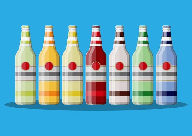 炭酸飲料またはジュースのボトル。
