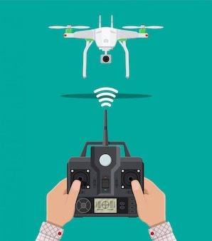 Воздушный беспилотник с дистанционным управлением.