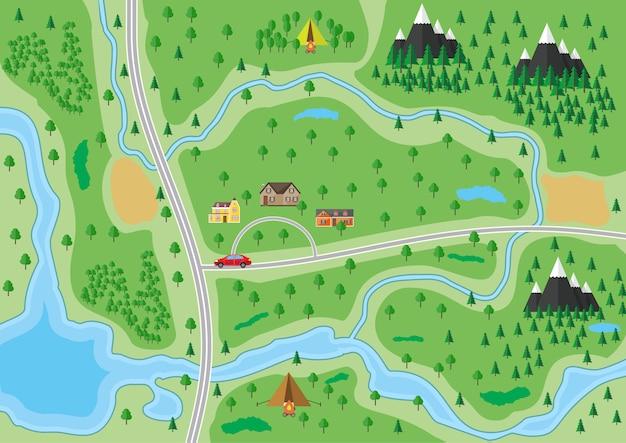 Пригородная карта природы