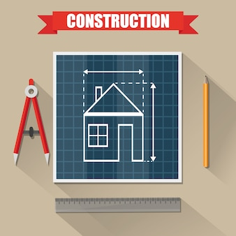 建築プロジェクト。建設。構築と計画