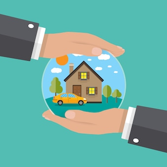 Руки агента, защитить дом и машину