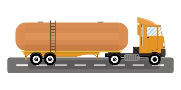 大型トラックと化学タンクのベクトル。