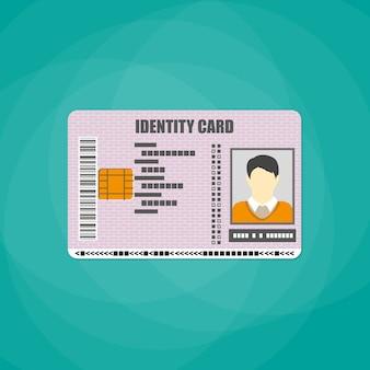 Удостоверение личности со штрих-кодом, электронным чипом
