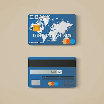 銀行カード、クレジットカードテンプレート。