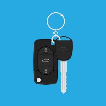 Автомобильный ключ с сигнализацией и цепью