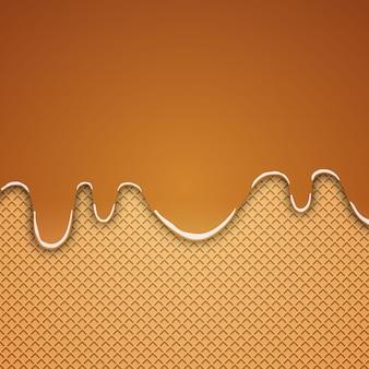 Вафельный фон с карамелью