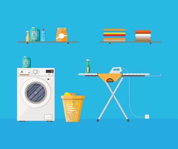 洗濯機付きのランドリールーム