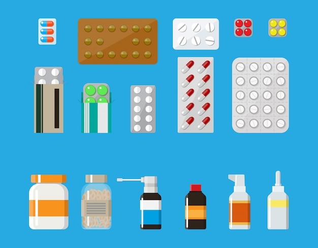 Капсулы и бутылки с лекарственными таблетками