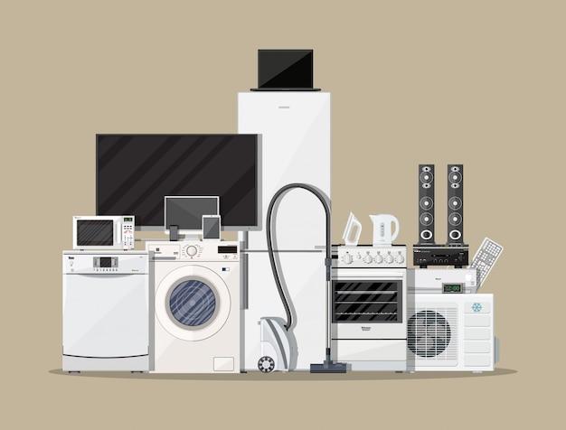 家庭用電化製品および電子機器