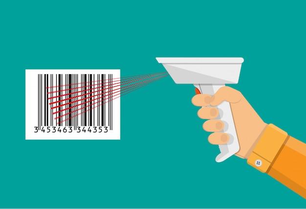 Сканер штрих-кода плоский дизайн