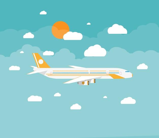 雲の中の飛行機