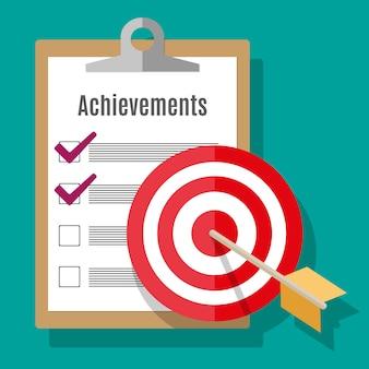Достижение цели с целью и стрелкой
