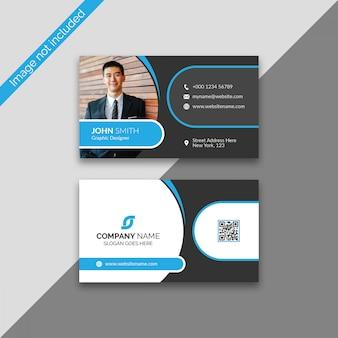 Корпоративный дизайн визитной карточки с фото