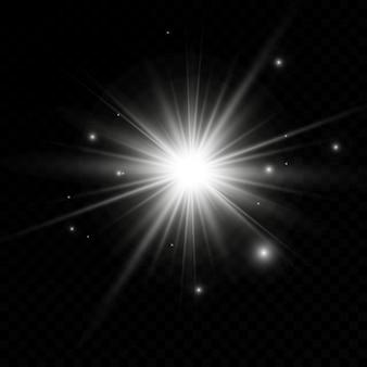 光、フラッシュ、爆発、星の輝く効果。