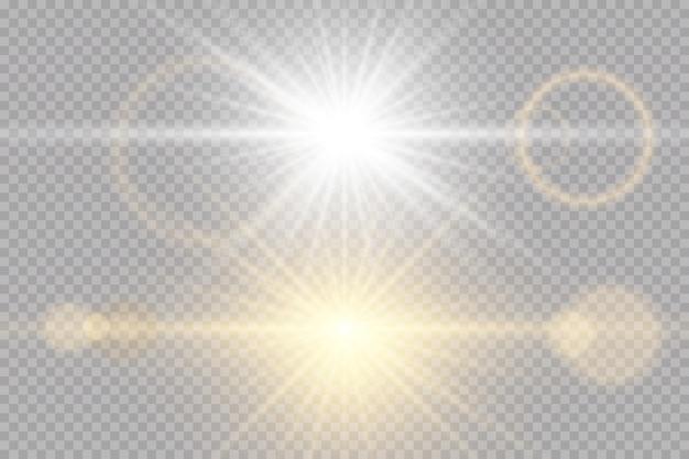 透明な日光の特別なレンズのフラッシュライト効果
