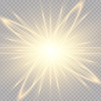 日光の光の効果の半透明の特別なデザイン。