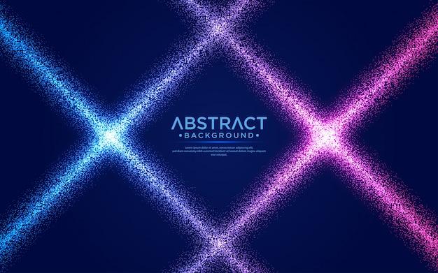 Сияющий абстрактный фон потока частиц.