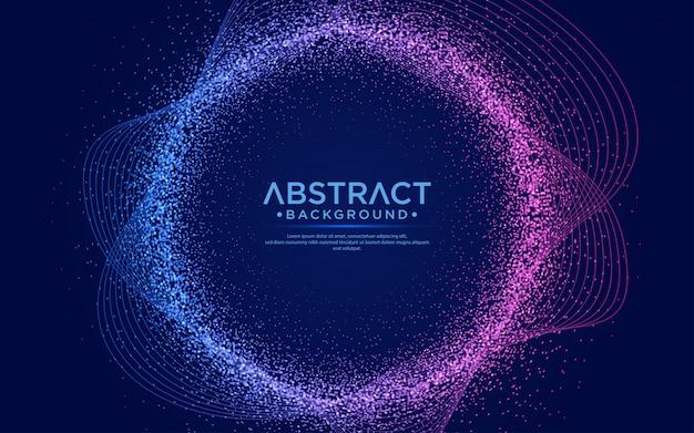粒子液体の動的な流れと抽象的な背景