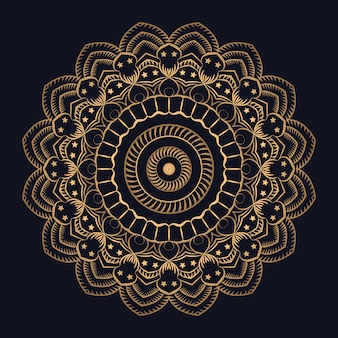 Золотой градиент роскошный арабески фон