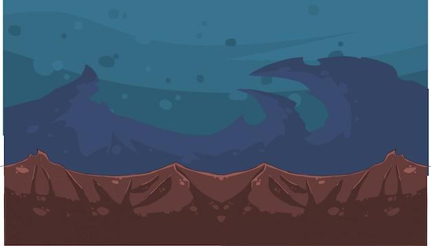 Мультфильм ночного неба и гор