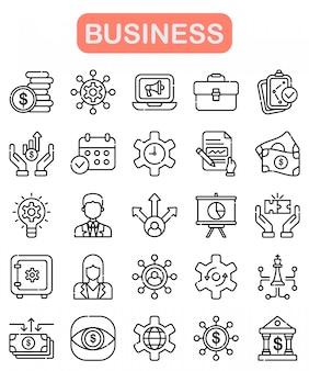 ビジネスのアイコンを設定、アウトラインのスタイル