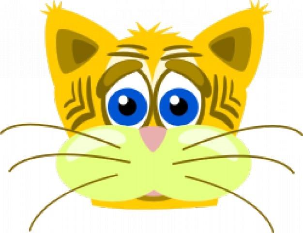 Грустный кот тигр