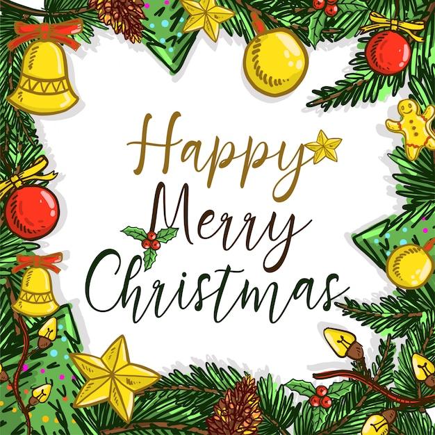 クリスマスの落書きの背景