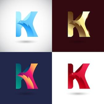 Креативный дизайн логотипа буква к