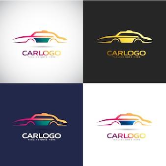 Шаблон логотипа автомобиля для бренда вашей компании
