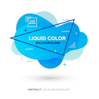 Абстрактная жидкость синего цвета баннер