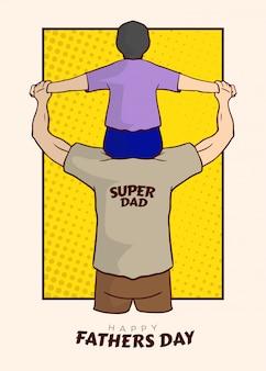 スーパーお父さんイラストベクトル