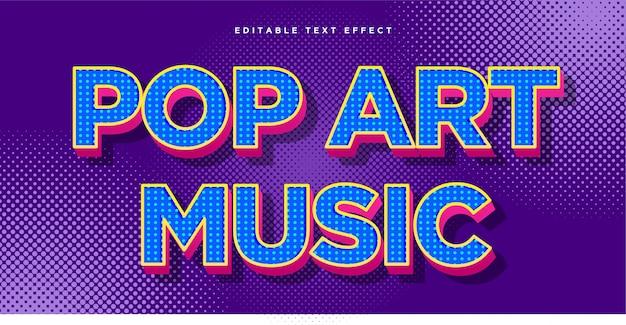 Эффект стиля текста в стиле поп-арт