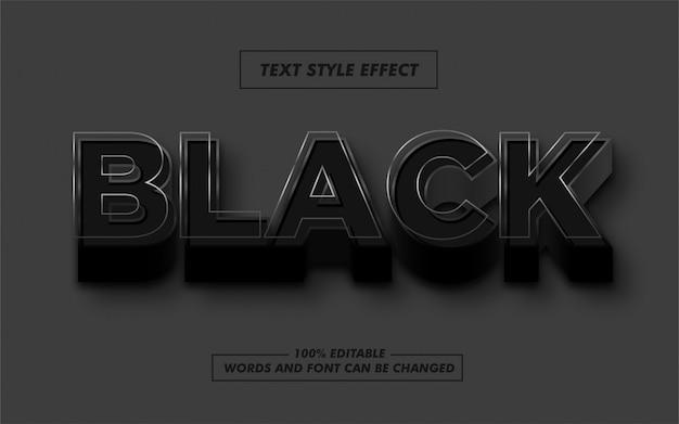 黒い線の太字テキストスタイル効果