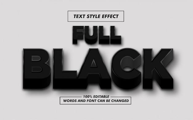 フルブラックの太字テキストスタイルエフェクト