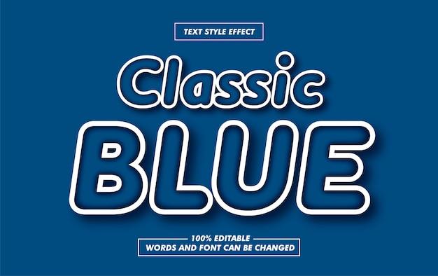Классический синий закругленный текст стиль эффект