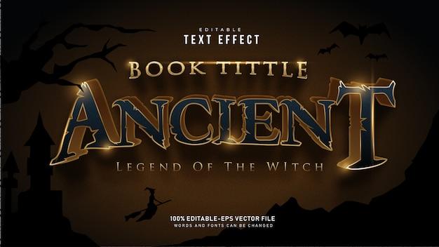 Золотой древний текстовый эффект