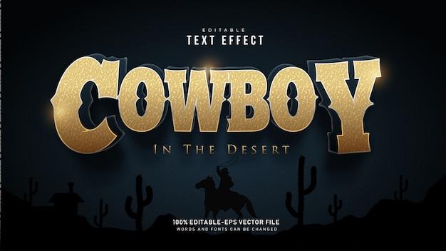 Текстовый эффект ковбой