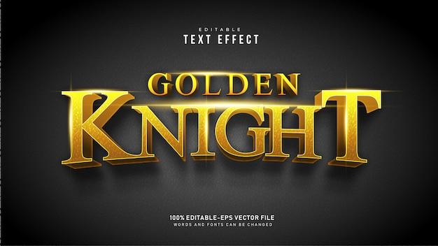 Текстовый эффект золотого рыцаря