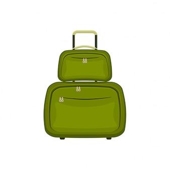 分離白旅行バッグスーツケース