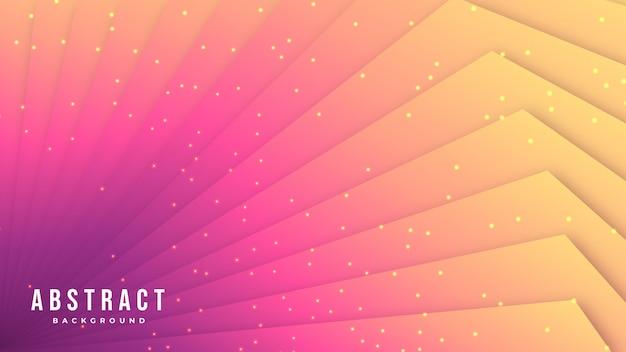 抽象的なオレンジと紫の線図形背景デザイン