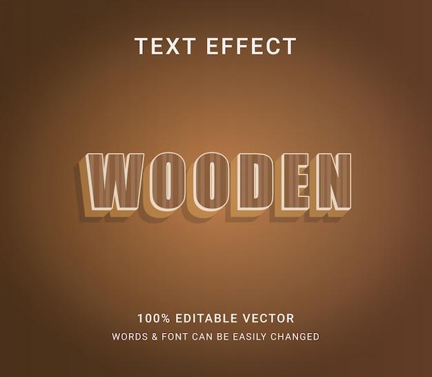 Деревянный коричневый редактируемый текстовый эффект